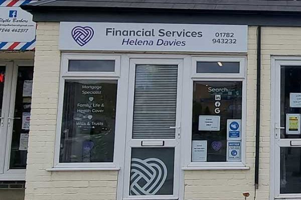 Helena Davies Financial Services office in Blythe Bridge Stoke-on-Trent